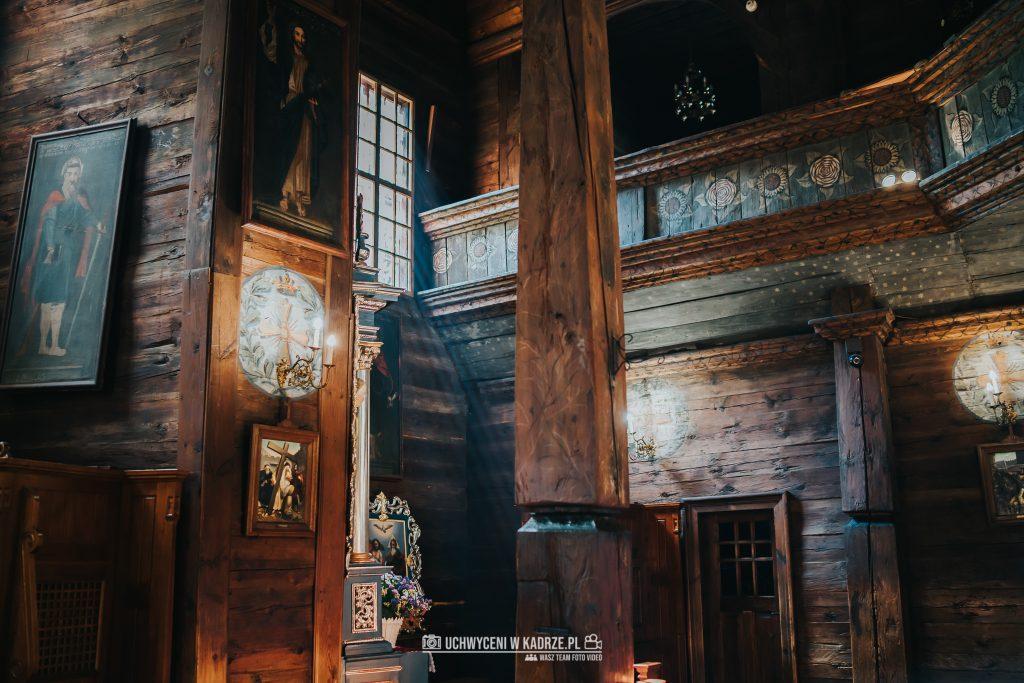 Magdalena Bartłomiej Fotografia Slubna 145 1024x683 - Ślub w zabytkowym drewnianym kościele | Tomaszów Lubelski