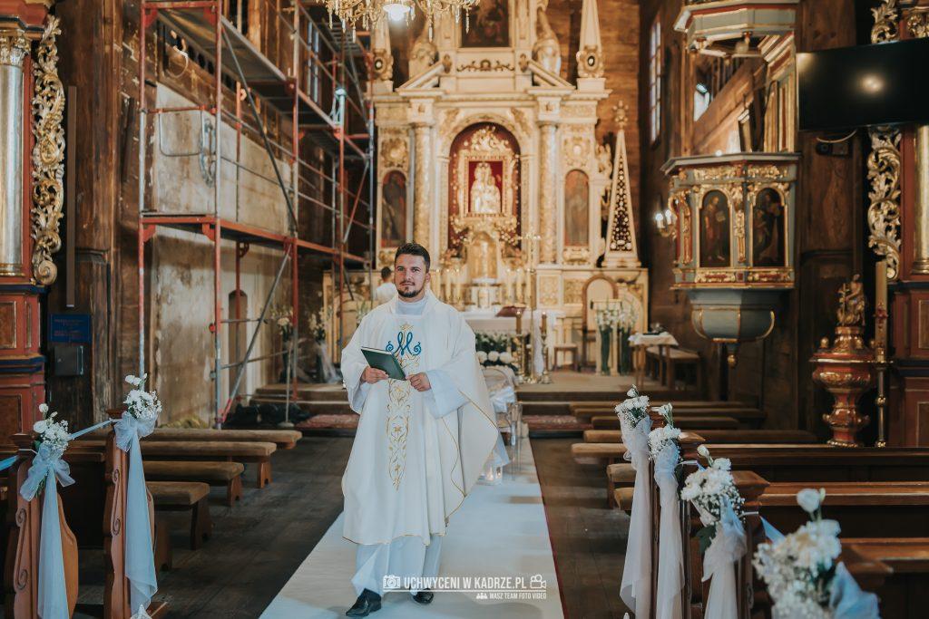 Magdalena Bartłomiej Fotografia Slubna 147 1024x683 - Ślub w zabytkowym drewnianym kościele | Tomaszów Lubelski