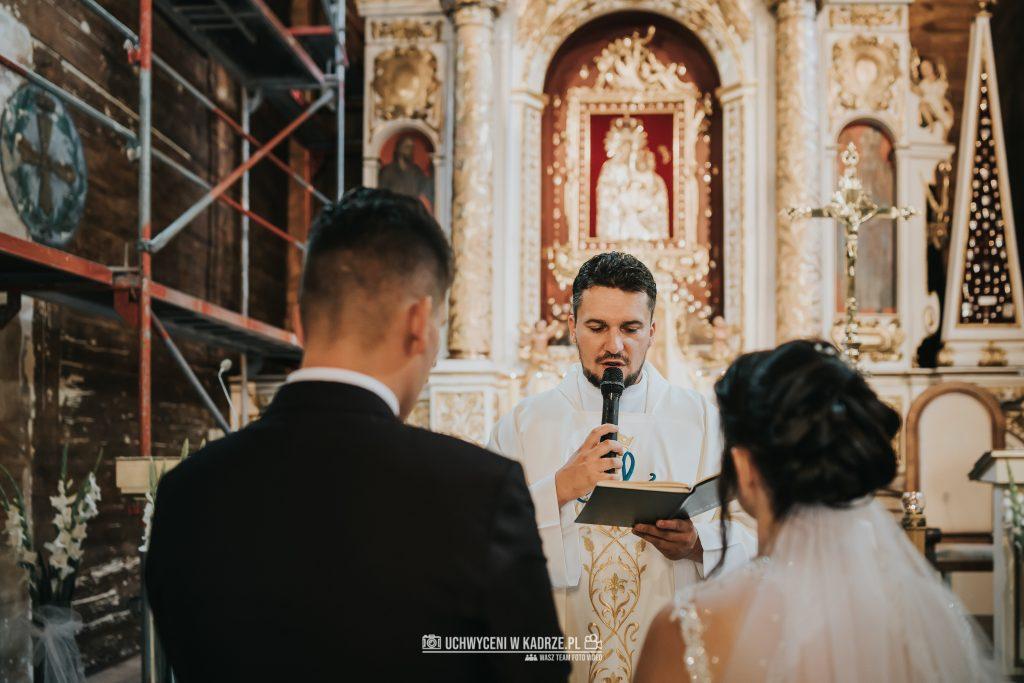 Magdalena Bartłomiej Fotografia Slubna 164 1024x683 - Ślub w zabytkowym drewnianym kościele | Tomaszów Lubelski