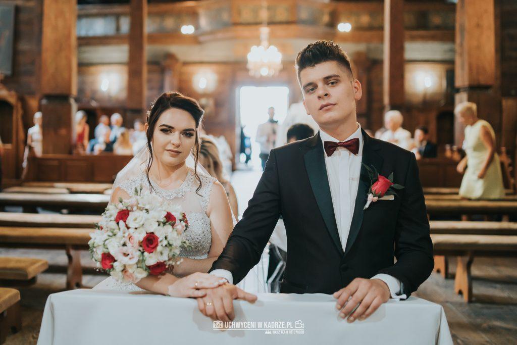 Magdalena Bartłomiej Fotografia Slubna 180 1024x683 - Ślub w zabytkowym drewnianym kościele | Tomaszów Lubelski