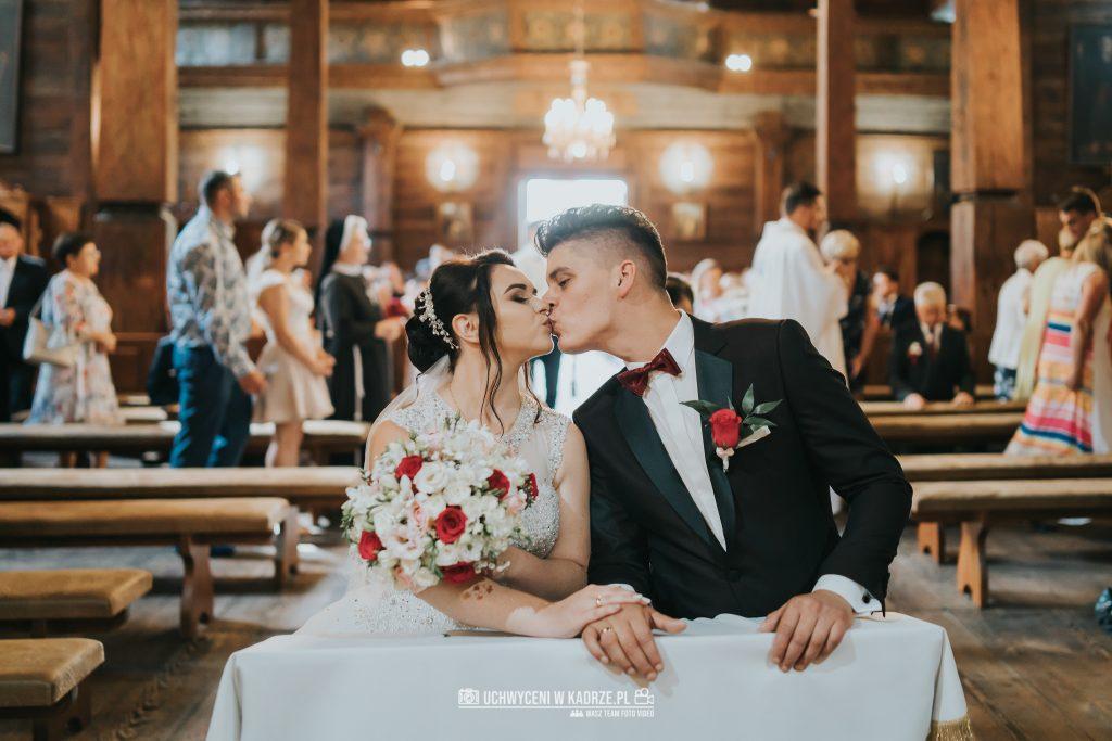 Magdalena Bartłomiej Fotografia Slubna 182 1024x683 - Ślub w zabytkowym drewnianym kościele | Tomaszów Lubelski