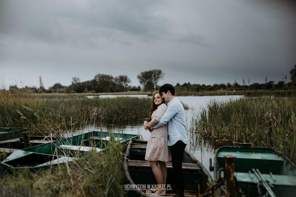 sesja zakochanych nad zalewem Stańków w woj. lubelskim, nieopodal Chełma