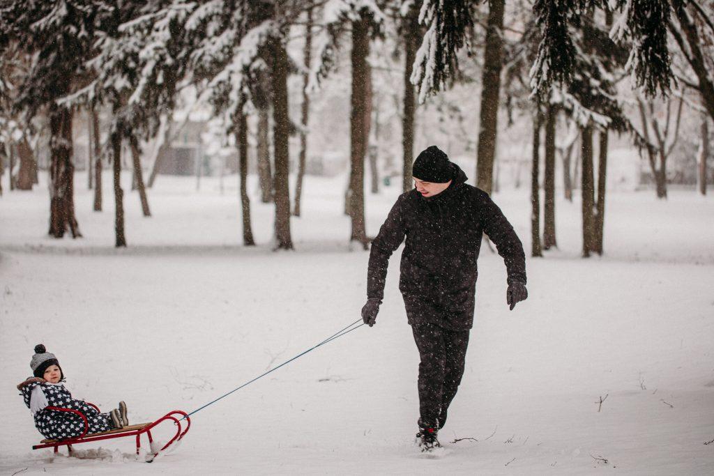 rodzinna sesja zimowa chelm 4 1024x683 - Justyna i Kamil z dziećmi – zimowa sesja rodzinna