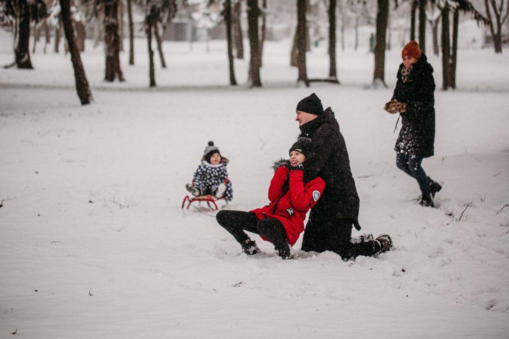 rodzinna sesja zimowa chelm 6 1024x683 - Justyna i Kamil z dziećmi – zimowa sesja rodzinna