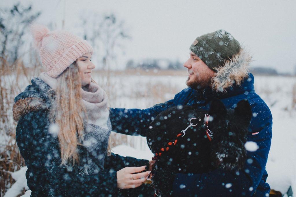 zimowa sesja zakochanych kasia daniel 18 1024x683 - Sesja zimowa zakochanej pary - Kasia i Daniel | 17.01.2021